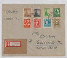 Thüringen Einschreib-Sammlerbrief Mit 92-99 - Sowjetische Zone (SBZ)