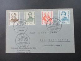 BRD 1956 Helfer Der Menscheit Satzbrief Mit SST Bonn II Bundeskanzler Dr. Konrad Adenauer Achtzig Jahre - BRD