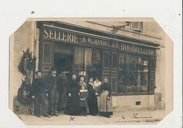 CARTE PHOTO DEVANTURE MAGASIN SELLERIE A CHANDELLIER BOURRELLERIE  CPA 13.6X9 - Craft
