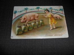 Ange ( 124 )    Engel   Angelot  Cirque  Circus  Cochon  Zwijn  Varken - Anges