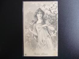 CPA - Firmin Maglin - Bonne Année 1908 - Nels - Femme / Lady / Art Nouveau - Autres Illustrateurs