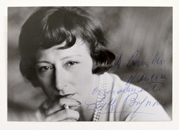Cinema Teatro - Autografo E Dedica Dell'attrice Lilla Brignone - Anni '60 - Autografi
