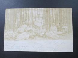 Berliner Echtfoto AK 1904 Preußische Soldaten Im Wald. Manöver. Nach Dorsten Gesendet - Brieven En Documenten