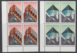 Europa Cept 1987 Liechtenstein 2v Bl Of 4 (corners) ** Mnh (43453B) - 1987