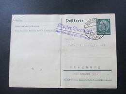 3. Reich 1935 Hindenburg GA Landpoststempel Kloster Biesdorf über Neuerburg (Kr. Bitburg) Neuerburg Land - Briefe U. Dokumente