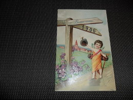 Ange ( 150 )   Engel   Angelot  Carte Gaufrée  Reliëf   Année  1905  1906   Jaartal - Anges