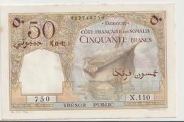 FRENCH SOMALI COAST P. 25 50 F 1952 AUNC - Dschibuti