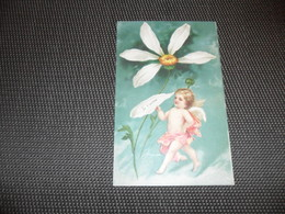 Anges ( 158 )  Ange  Engelen  Engel   Angelot  Carte Gaufrée  Reliëf - Anges