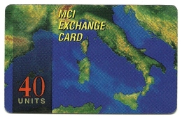 Italia - Tessera Telefonica Internazionale - T613    MCI - Italië