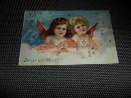 Anges ( 161 )  Ange  Engelen  Engel   Angelot  Carte Gaufrée  Reliëf - Anges