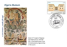 DZ Algeria 1743 Algeria Museum Roman Mosaic From Cirta Museum Of Constantine In Algeria Now In The Louvre - Museums