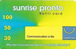 Prepaid, Mobil Recharge: Sunrise Pronto 30 - Switzerland