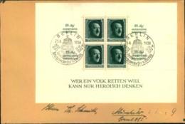 1938, Reichsparteitagsblock Mit SSt Auf Doppelbrief - Block 11 - Allemagne
