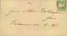 1872, 1/4 Gr. Großer Schild Auf Ortsbrief BERLIN P.E. No. 8 N - 1 - Mi.Nr. 17 A - Deutschland