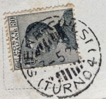 AMBULANTE  SIENA - CHIUSI (TURNO G) * 3/5/28   SU CARTOLINA  SIENA IL CAMPO  PIAZZA V. EMANUELE - Storia Postale