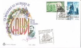 33391. Carta Exposicion Marenostrum  Sofinuta TARRAGONA 2002. Gaudí , Arquitecto - 1931-Hoy: 2ª República - ... Juan Carlos I