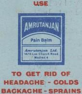 Inde Vers 1982. Aérogramme Avec Publicité Utilisé Commercialement. Amrutanjan, Maux De Tête, De Dos, Entorses, Rhumes - Pharmacy