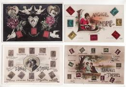 Lot De 8 Cpa    TIMBRES    Langage Du Timbre - Stamps (pictures)
