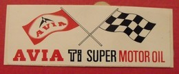 Autocollant Huile Essence Avia TI Super Motor Oil. Vers 1960-70 - Autocollants