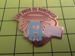 710G Pins Pin's / Rare & Belle Qualité THEME MARQUES / LES PROS DU RAMONAGE DEBISTRAGE ET BIROUTAGE - Trademarks