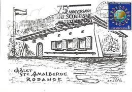 3.7.1989  -  CHÂLET STe AMALBERGE RODANGE - Cartes Maximum