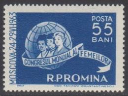 ROUMANIE 1963 1 TP Congrès International Des Femmes à Moscou N° 1923 Y&T Neuf ** - 1948-.... Republiken