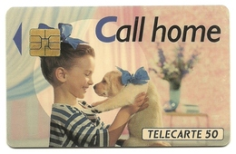 Francia - Tessera Telefonica Da 50 Units - T619   France Telecom - Dogs