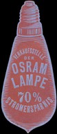 Berlin: Verkaufsstelle Der Osram Lampe Reklamemarke - Cinderellas