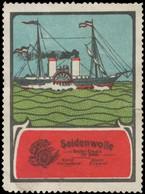 Seidenwolle -Dampfer Reklamemarke - Cinderellas