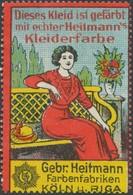 Köln, Riga/Russland: Dieses Kleid Ist Gefärbt Mit Echter Heitmanns Kleiderfarbe Reklamemarke - Cinderellas