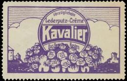 Augsburg: Vorzüglichste Lederputz-Creme Kavalier Reklamemarke - Cinderellas