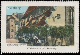 Nürnberg: Bratwurstglöcklein Reklamemarke - Cinderellas