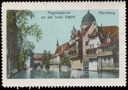 Nürnberg: Pegnitzpartie An Der Insel Schütt Reklamemarke - Cinderellas