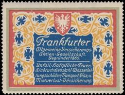 Frankfurt/Main: Frankfurter Allgemeine Versicherungs-AG Reklamemarke - Cinderellas