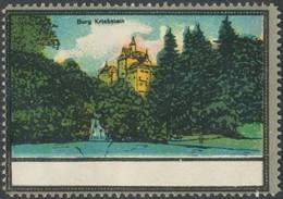Burg Kriebstein Reklamemarke - Cinderellas