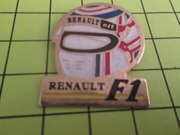 712b Pins Pin's / Rare & Belle Qualité THEME AUTOMOBILE / F1 FORMULE 1 RENAULT CASQUE DE PILOTE - F1