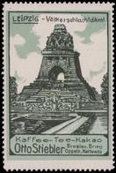 Breslau, Brieg, Oppeln, Kattowitz: Völkerschlachtdenkmal Lübeck Reklamemarke - Cinderellas