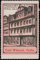 Gotha: Goethe Geburtshaus In Frankfurt/Main Reklamemarke - Cinderellas