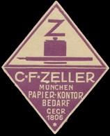 München: Papier-Kontor Bedarf Reklamemarke - Cinderellas