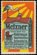 Berlin: Grösstes Spezialhaus Für Kinderwagen, Metall-Bettstellen, Gartenmöbel Reklamemarke - Cinderellas