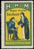 Honig-Kräuter-Menthol-Bonbon Reklamemarke - Cinderellas