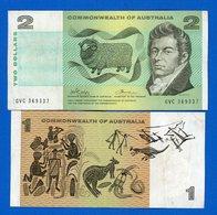 Australie  Commonwealth  2  Billets - Emissions De La Banque Nationale 1910