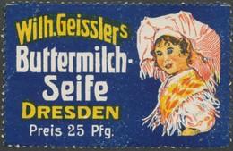Dresden: Spreewald Tracht Reklamemarke - Erinnofilie
