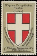 Grossheringen: Wappen Europäischer Staaten - Italien Reklamemarke - Vignetten (Erinnophilie)