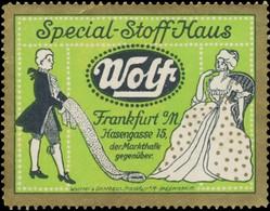 Special Stoffhaus Wolf Reklamemarke - Vignetten (Erinnophilie)