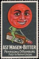 Hamburg: Ast Magen-Bitter Reklamemarke - Vignetten (Erinnophilie)