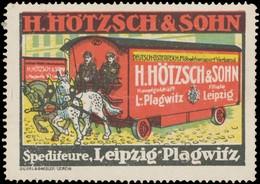 Leipzig: Spedition Reklamemarke - Vignetten (Erinnophilie)