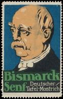 Berlin: Bismarck Senf Reklamemarke - Vignetten (Erinnophilie)