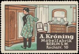 Berlin: Schlafzimmer Möbel Reklamemarke - Vignetten (Erinnophilie)