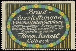 Lübeck: Brautausstattungen Reklamemarke - Vignetten (Erinnophilie)